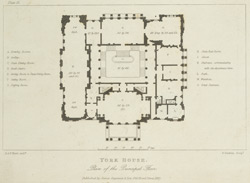 York House. Plan of the principal floor
